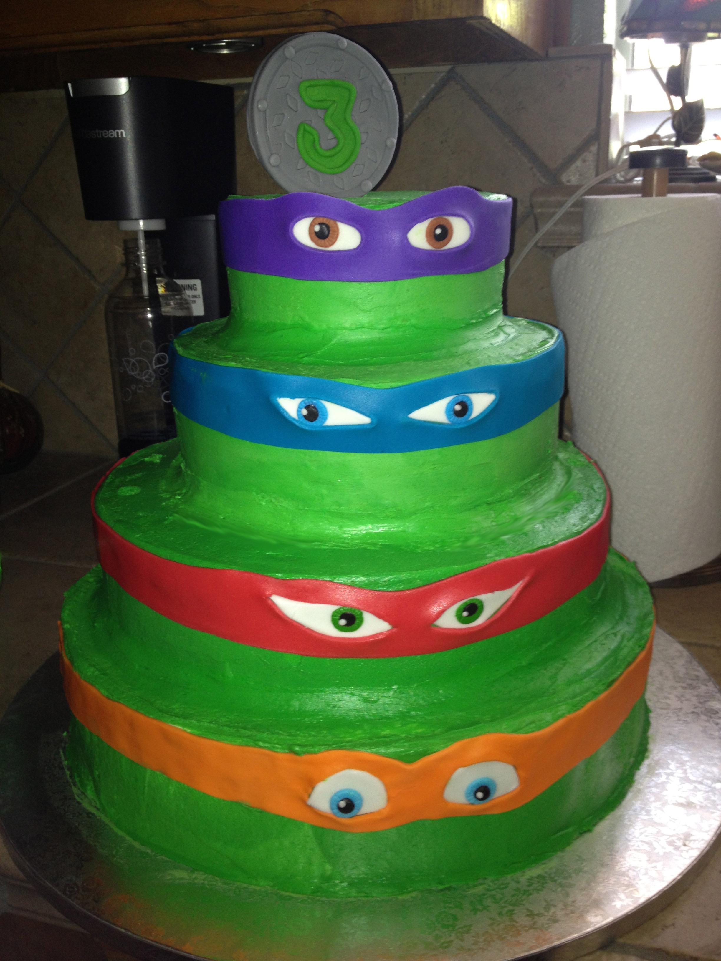 TMNT Cakes For Boys