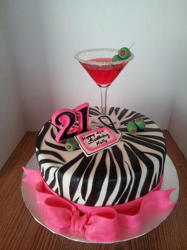 7 21 Birthday Cakes With A K Photo Girls 21st Birthday Cake Ideas