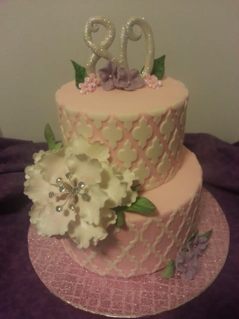 10 80th Birthday Cakes For Mom Photo