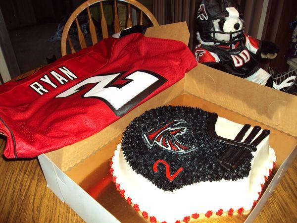 Atlanta Falcons Football Cake
