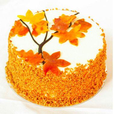 Fine 9 Fall Leaves Birthday Cakes Photo Autumn Leaves Birthday Cake Birthday Cards Printable Benkemecafe Filternl