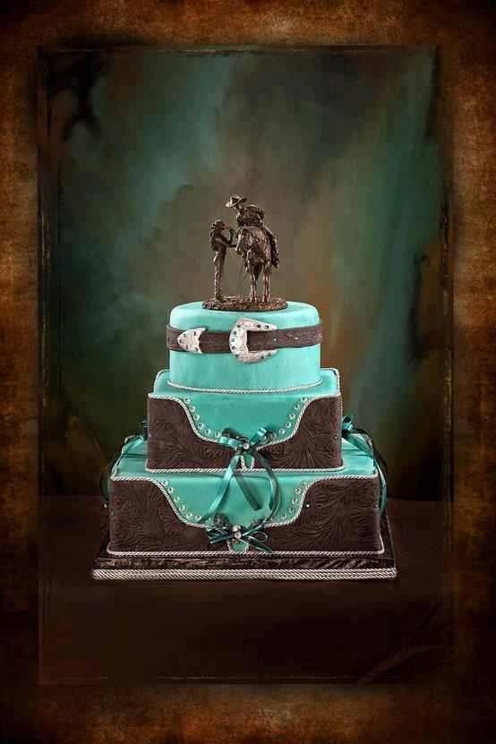 12 Cowboy Style Wedding Cakes Photo - Western Wedding Cake Topper ...