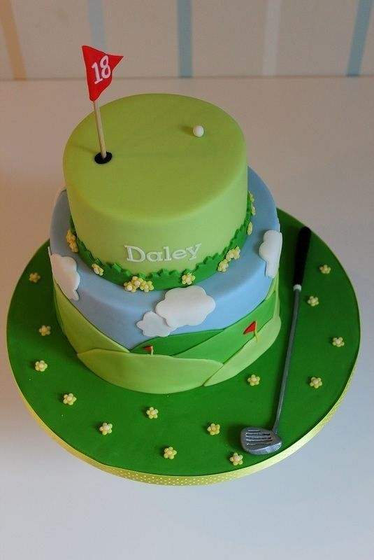Golf Birthday Cake Ideas Via Themed