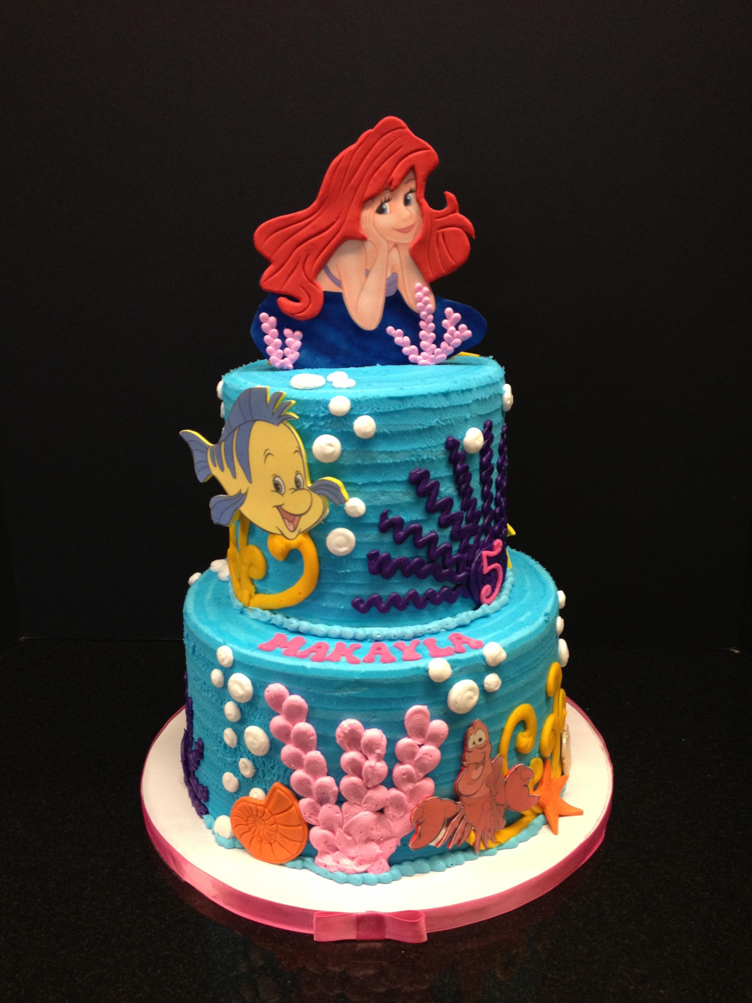 Super 13 Little Mermaid Bday Cakes Photo Little Mermaid Birthday Cake Birthday Cards Printable Trancafe Filternl