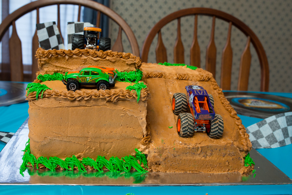 Phenomenal 7 Homemade Birthday Cakes Mud Trucks Photo Monster Truck Funny Birthday Cards Online Aboleapandamsfinfo