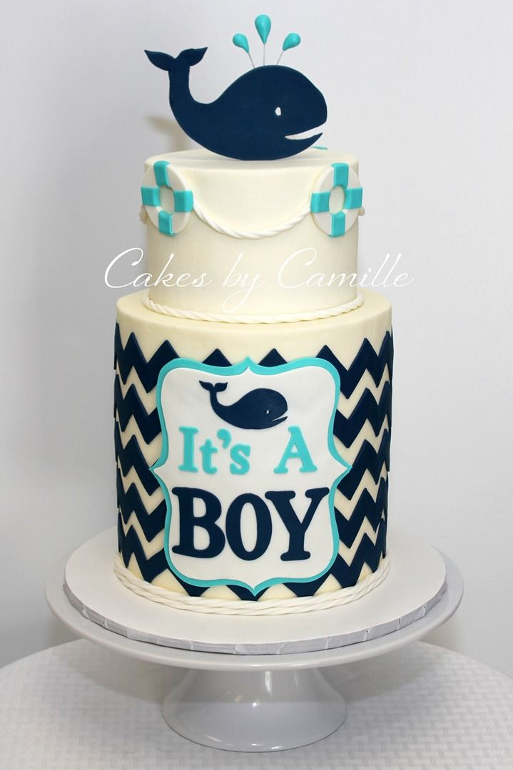 7 Boats Baby Boy Shower Cakes Photo Nautical Baby Shower Cake