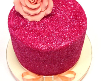 9 Pink Star Cakes Designs With Glitter Photo