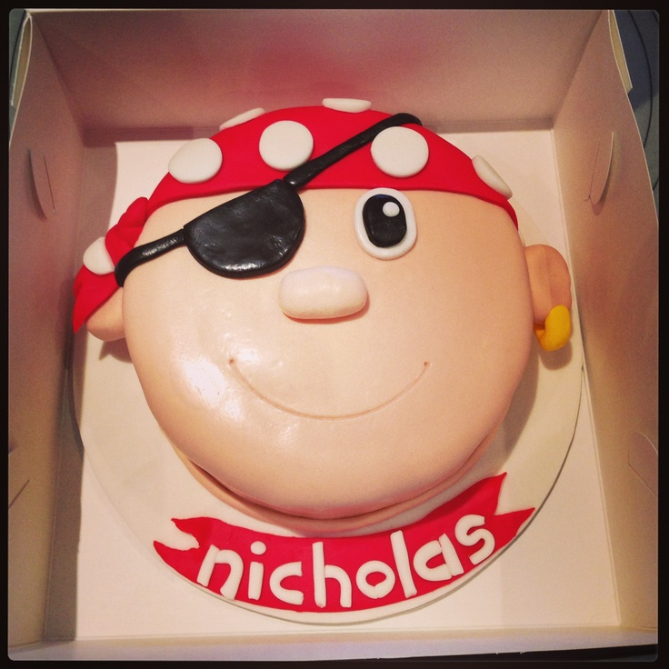 10 Easy Pirate Face Cakes Photo Pirate Birthday Cake Face Pirate