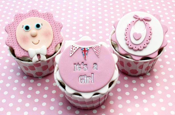 12 Red Baby Girl Cupcakes Photo Baby Girl Cupcakes Yellow Baby