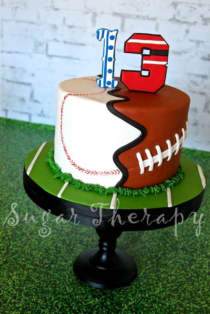 10 Football And Baseball Birthday Cakes Photo Football Birthday