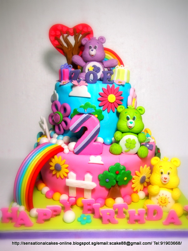 Excellent 12 Care Bears Themed Sweet 16 Cupcakes Photo Care Bears Birthday Birthday Cards Printable Benkemecafe Filternl
