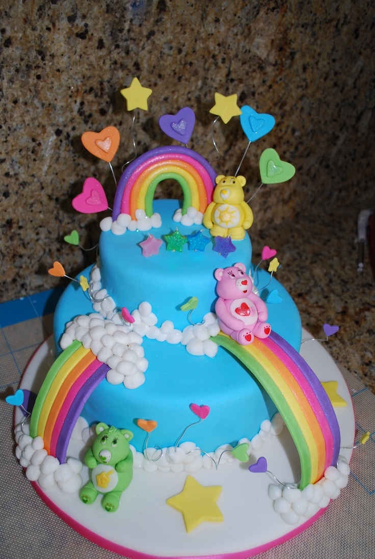 12 Care Bears Themed Sweet 16 Cupcakes Photo Care Bears Birthday