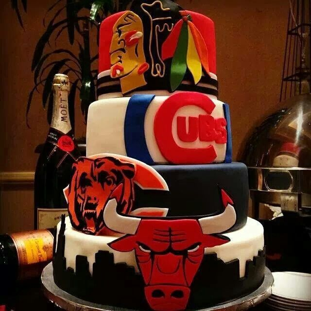 7 Grooms Cakes Chicago Photo Chicago Sports Grooms Cake Chicago
