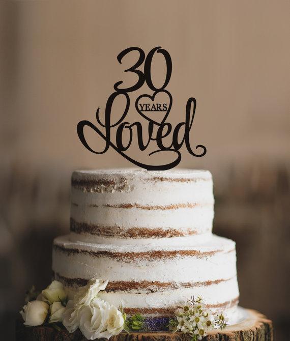 10 Elegant 30th Anniversary Cakes Photo Elegant Happy Birthday