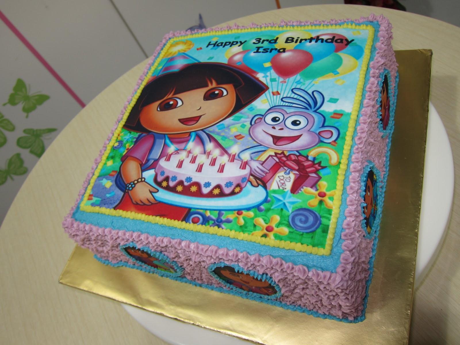 Admirable 9 2 Year Old Girl Dora Cakes Photo Dora The Explorer Happy Birthday Cards Printable Benkemecafe Filternl