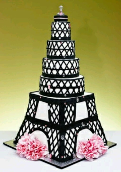 11 Eiffel Tower Pink Quince Cakes Photo - Paris Eiffel Tower Cake ...