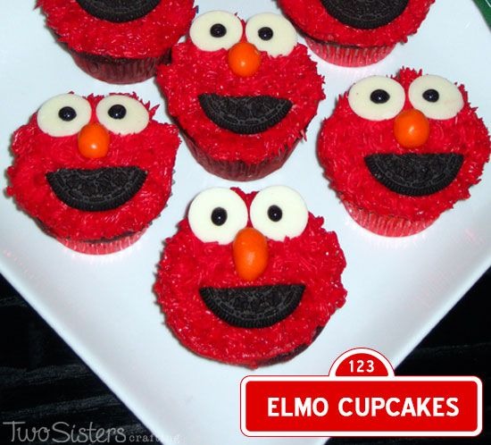 10 Funny Elmo Cupcakes Photo - Elmo Cupcakes, Elmo Cupcakes and