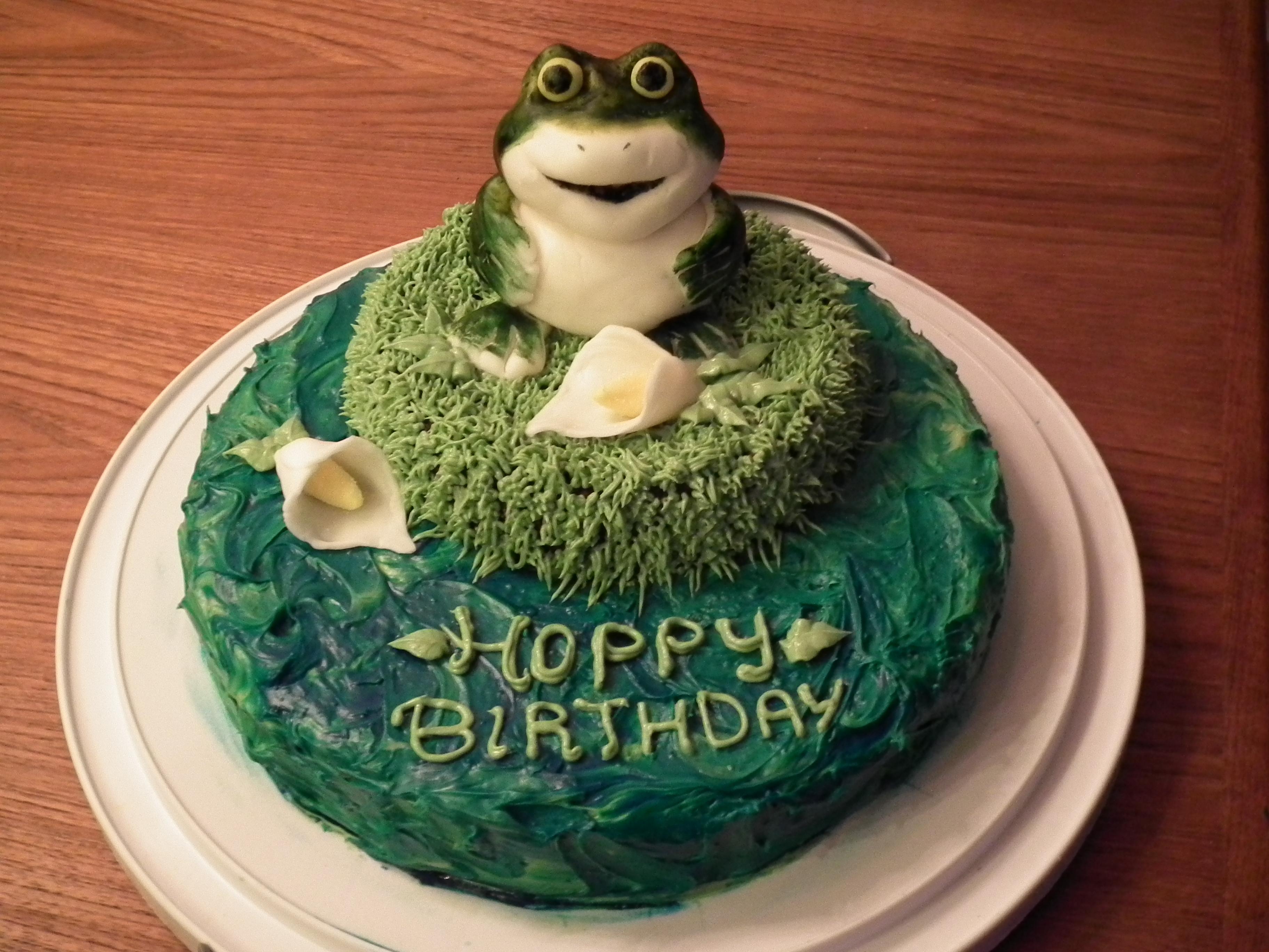 Tremendous 13 Forg Birthday Cakes Photo Frog Birthday Cake Frog Birthday Funny Birthday Cards Online Necthendildamsfinfo