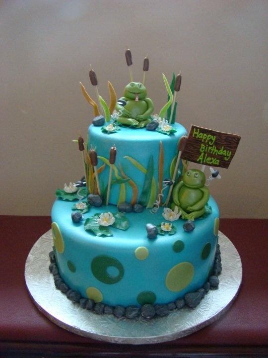 13 Forg Birthday Cakes Photo Frog Birthday Cake Frog Birthday