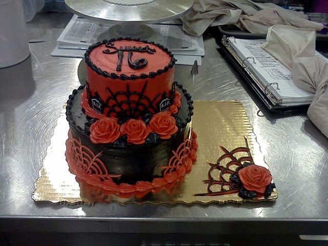 Stupendous 8 Goth Sweet 16 B Day Cakes Photo Gothic Sweet 16 Birthday Cake Funny Birthday Cards Online Aeocydamsfinfo