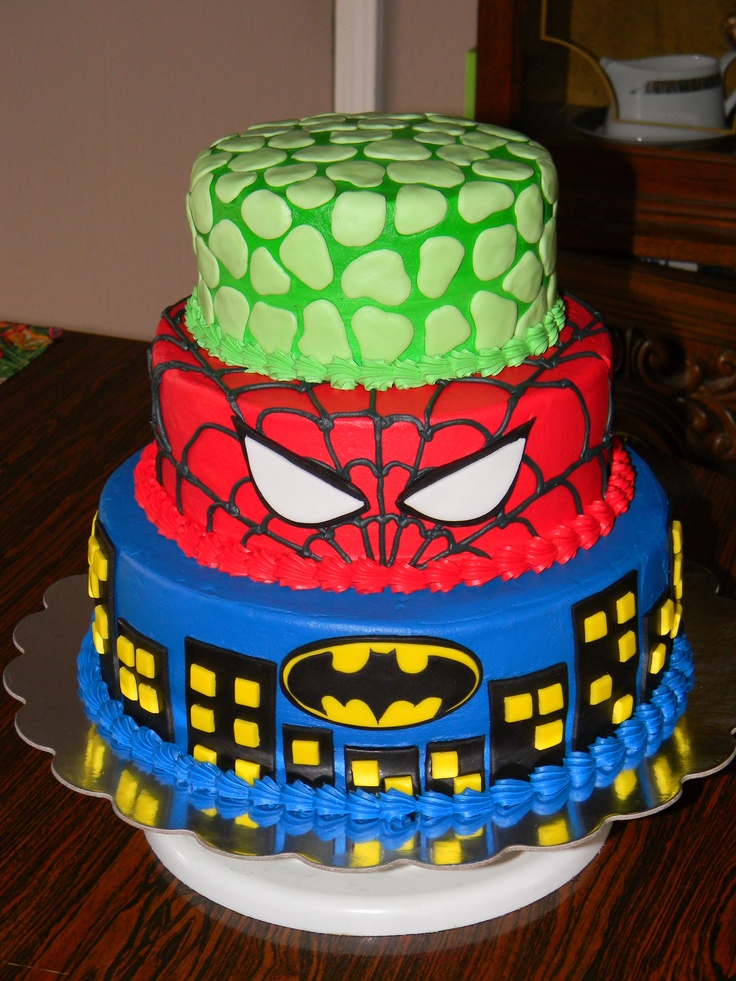 12 Hulk Batman Birthday Party Cakes Photo Hulk And Spider Man