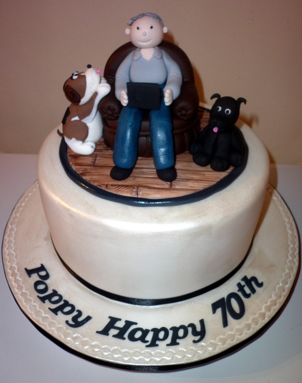 Man 70th Birthday Cake