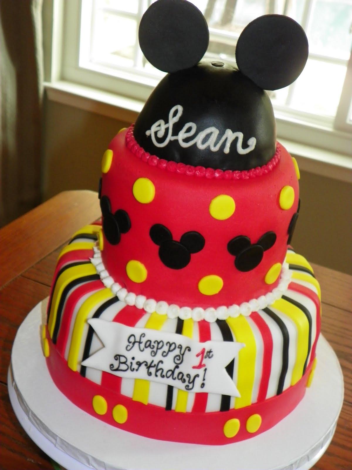 Fine 10 Mickey Mouse Bithday Cakes Photo Mickey Mouse Birthday Cake Personalised Birthday Cards Paralily Jamesorg