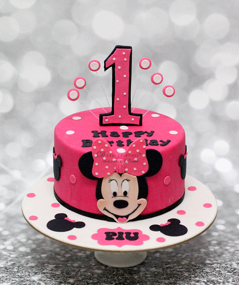 Astounding 11 Minnie Party Cakes Photo Minnie Mouse Birthday Cake Minnie Funny Birthday Cards Online Unhofree Goldxyz