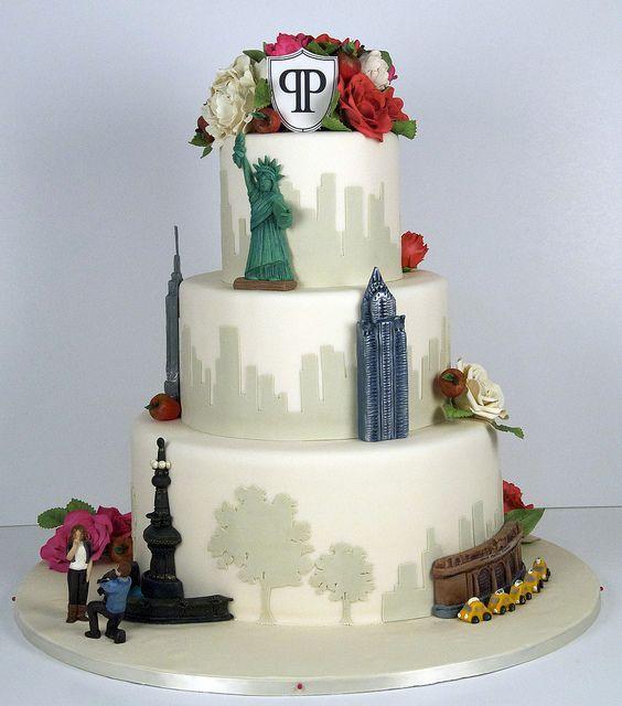 New York City Wedding Cake