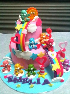 Groovy 12 Care Bears Themed Sweet 16 Cupcakes Photo Care Bears Birthday Funny Birthday Cards Online Alyptdamsfinfo