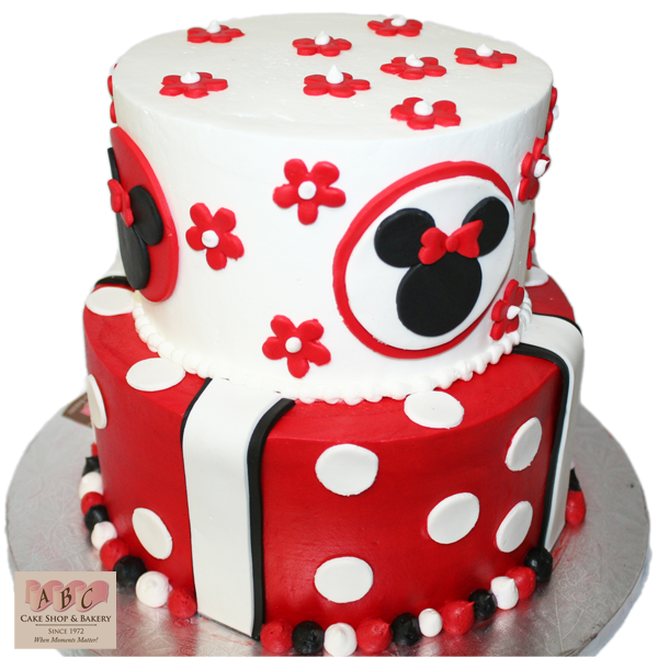 Peachy 10 Abc Mouse Cakes Photo Red Minnie Mouse Birthday Cake Mickey Funny Birthday Cards Online Overcheapnameinfo