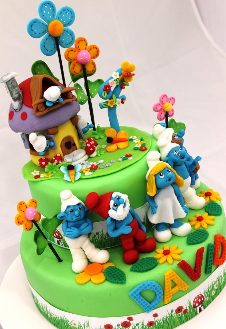 Excellent 5 Smurfs Birthday Cakes For Girls Photo Smurf Birthday Cake Boys Funny Birthday Cards Online Overcheapnameinfo