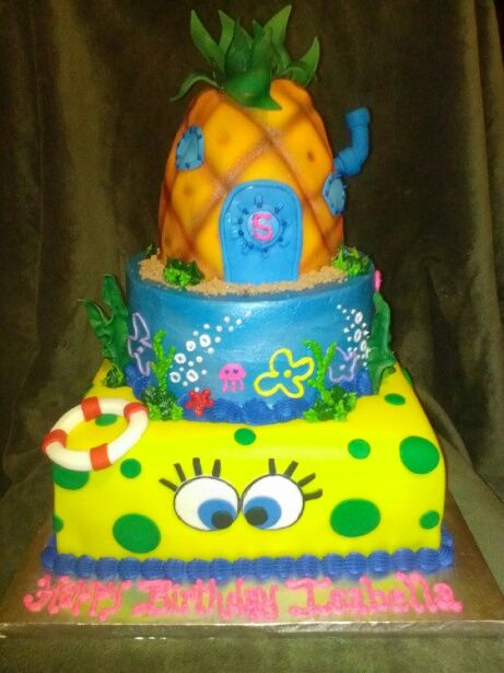 Groovy 11 Birthday Cakes With Spongebob Toys Photo Spongebob Birthday Funny Birthday Cards Online Alyptdamsfinfo