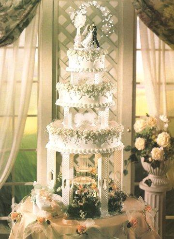 9 Unique Wedding Cakes With Fountains Photo Castle Wedding Cake