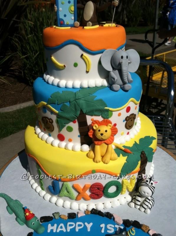 11 Zoo Themed Birthday Cakes Photo Zoo Theme Birthday Cake Zoo