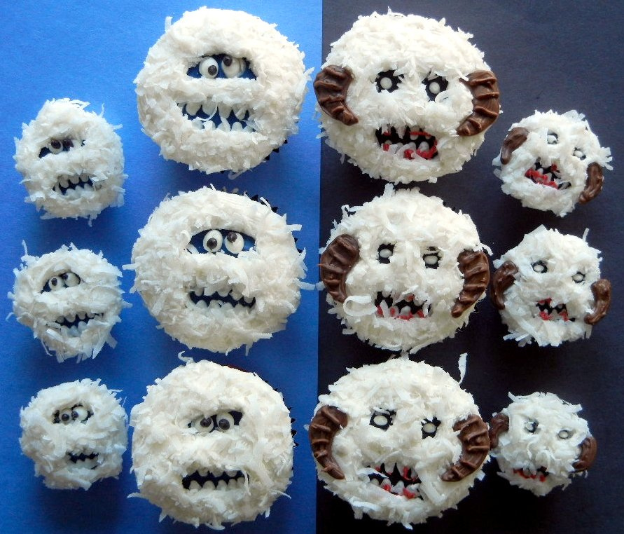 10 Abominable Snowman Cupcakes Photo Abominable Snow Monster