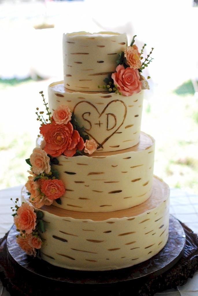 11 Tree Looking Wedding Cakes Photo Birch Tree Wedding Cake Birch