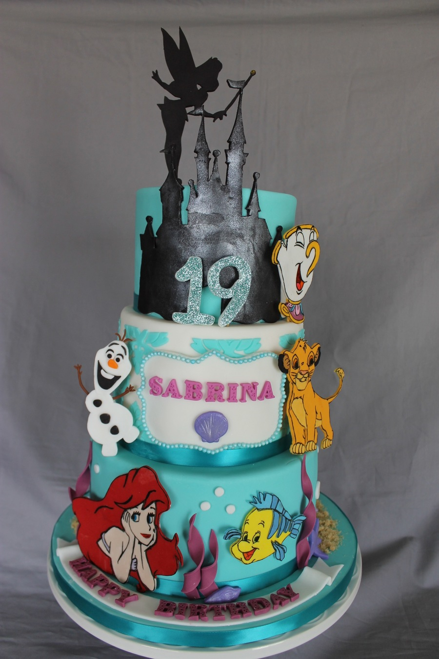 Remarkable 7 Disney Anniversary Cakes Photo Happy Birthday Cake Disney Funny Birthday Cards Online Bapapcheapnameinfo