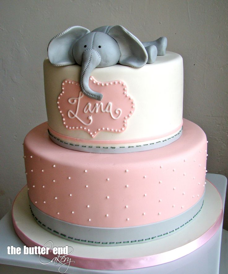 11 Grey Elephant Baby Shower Cakes For Photo Pink And Grey