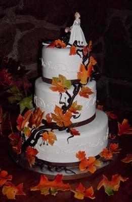 Fall Camo Wedding Cake