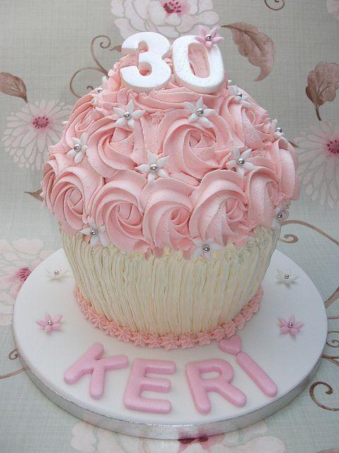 Giant 30th Birthday Cupcake