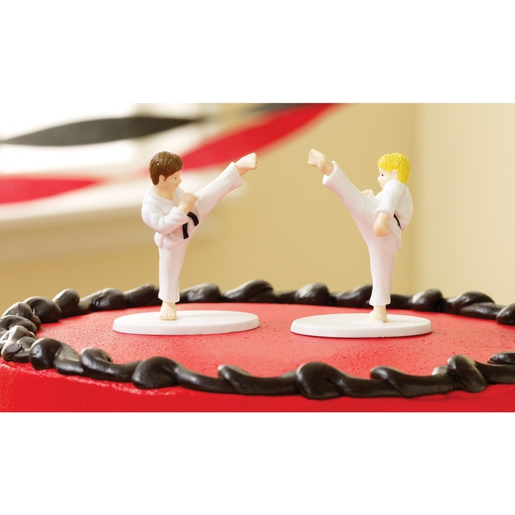 Martial Art Birthday Cake Decorations