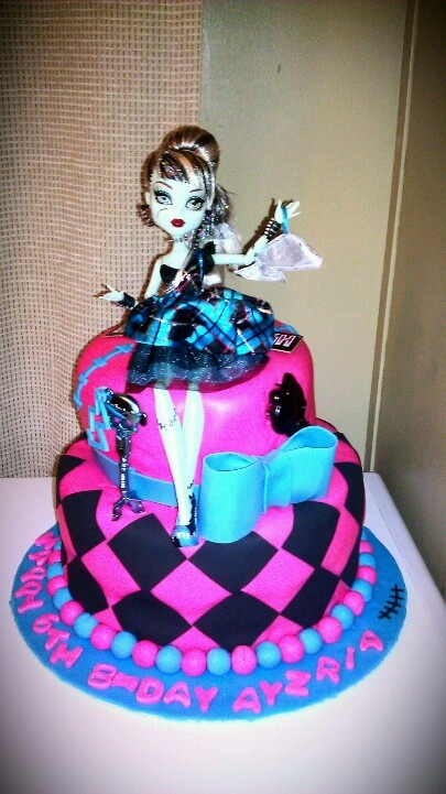 Astonishing 12 Monster High Birthday Cakes For Girls Photo Monster High Funny Birthday Cards Online Fluifree Goldxyz