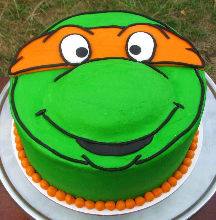 Groovy 12 Mutant Ninja Turtle Cakes Photo Teenage Mutant Ninja Turtle Personalised Birthday Cards Petedlily Jamesorg