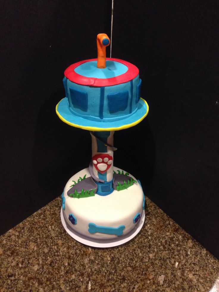 Tremendous 10 Paw Patrol Tower Cakes Photo Paw Patrol Cake Tower Paw Personalised Birthday Cards Beptaeletsinfo