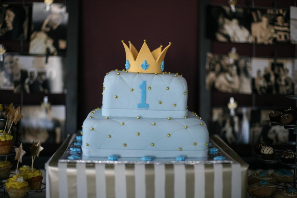 Royal Prince 1st Birthday Cake