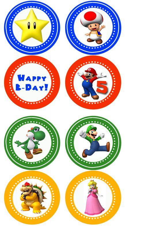 9 Printable Super Mario Cupcakes Photo Mario Brothers Cupcake