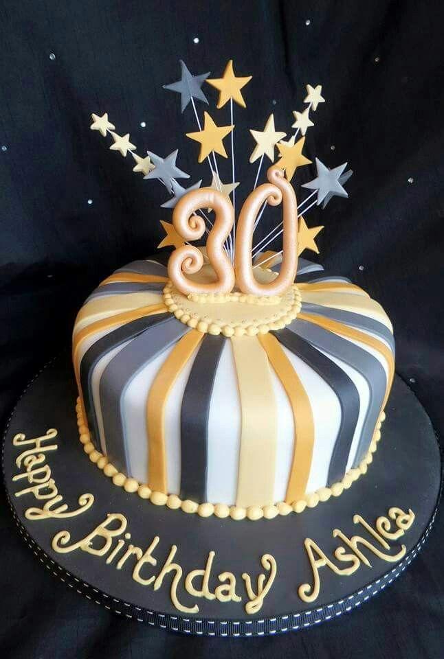 Fabulous 12 Birthday Cakes For 30Th Birthday Photo 30Th Birthday Cake Birthday Cards Printable Inklcafe Filternl