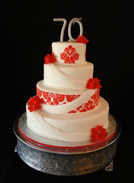 9 Elegant 70th Birthday Cakes Photo 70th Birthday Cake Ideas 70th