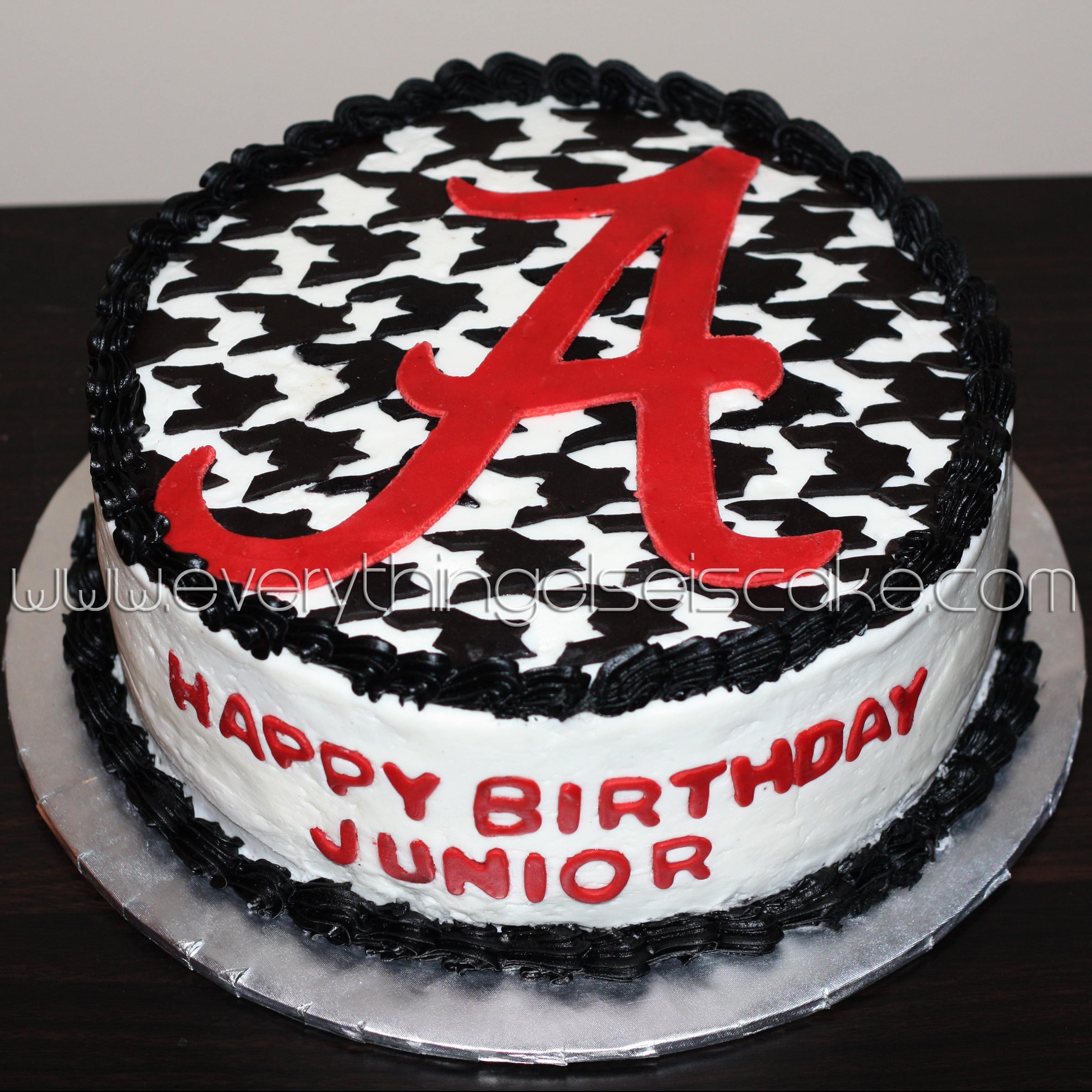 Awesome 8 Alabama Cakes Fondant Photo Alabama Elephant Cake Alabama Personalised Birthday Cards Veneteletsinfo